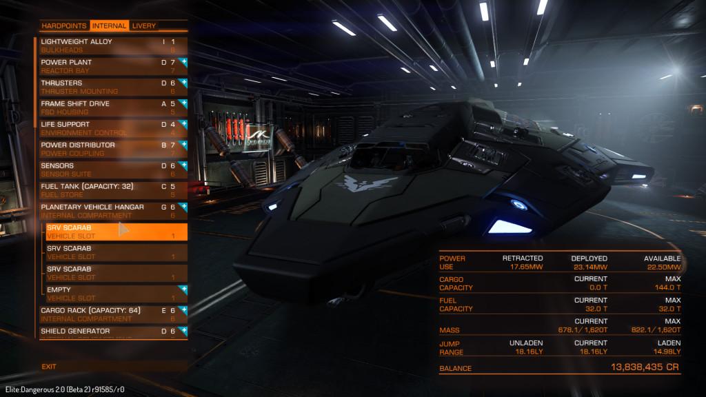 ecco dove appaiono gli SRV nell'outfitting di un porto planetario