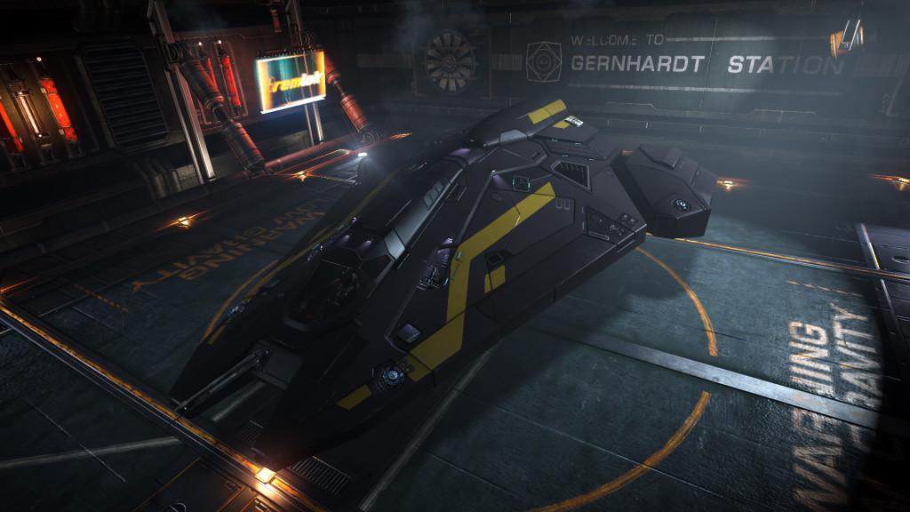uno screenshot del mio Viper nello spazio-porto