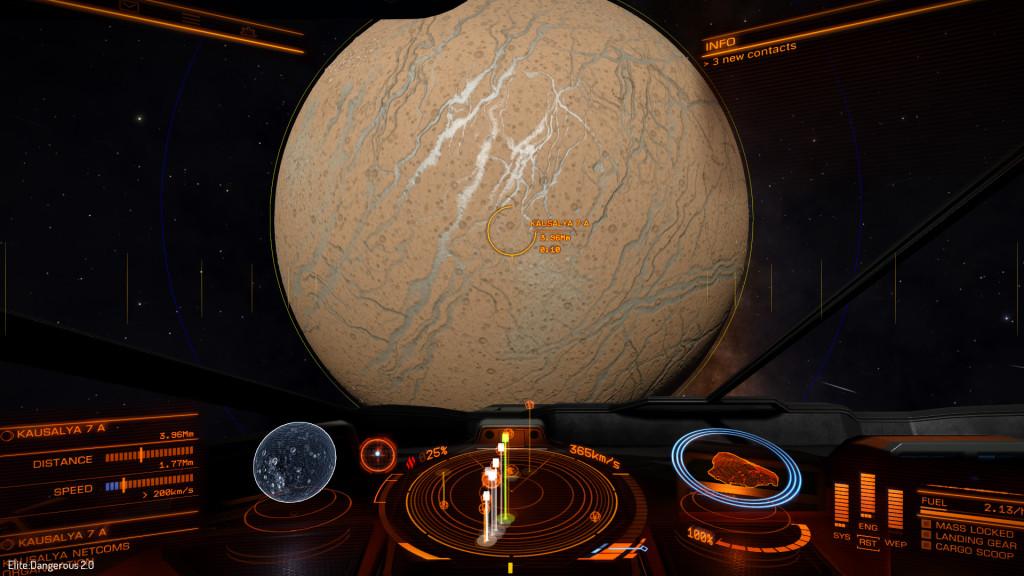 la qualità delle texture mentre ci si avvicina ai pianeti è notevolmente aumentata