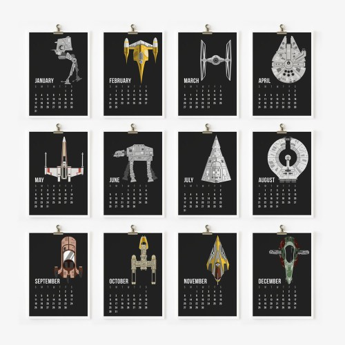 Star Wars Calendar 2016: fare clic per ingrandire