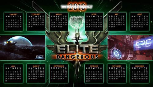 Elite Dangerous Calendar 2016: fare click per ingrandire