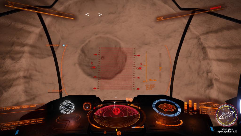 eccoci infine arrivati al pianeta stabilito, nel cratere formato in uno dei suoi poli...