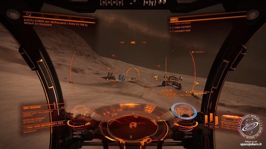 e intanto che aspettiamo ci facciamo un giro di esplorazione con l'SRV in dotazione...