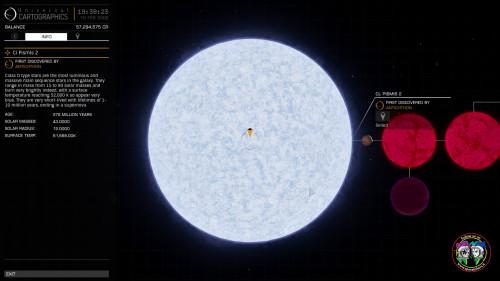 la Gigante CL Pisimis 2 nella nebulosa 6357