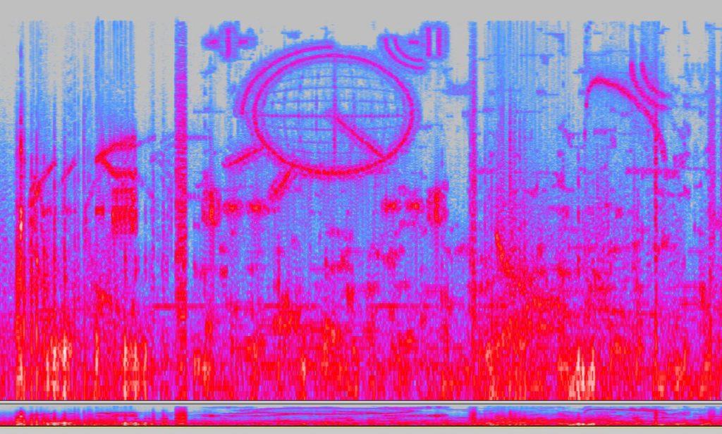 Ecco lo spettrogramma dell'onda sonora che la UP ha trasmesso: